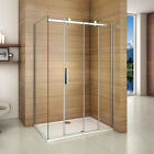 Aica Luxury Frameless Sliding Shower Door Enclosure & Tray 8mm NANO Glass Screen