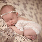 Newborn Baby Bodysuit Romper Girl Lace Floral Photo Props Photography Costume
