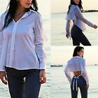 New Sexy Womens Personality Blouse Backless T-Shirt Summer Casual Loose Tee Tops