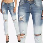 TheMogan Women's Fringed Hem Mid Rise Distressed Ombre Washed Straight Leg Jeans