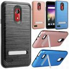 ZTE ZMAX PRO Tuff Trooper HYBRID TPU Case Phone Cover Accessory + Screen Guard