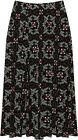 Plus Womens Elasticated Midi Skirt Ladies Floral Paisley Print Flared New 16-30