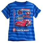 Disney Store Cars Lightning McQueen Boys Blue T Shirt Tee Toddler Size 2/3 NWT