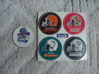NFL Pogs 1994 Browns/49ers/Dolphins/Raiders + Canton OH