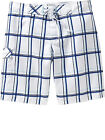 NWT Old Navy Men's Blue & White Plaid Board Shorts Swim Trunks S Small! NEW