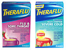 THERAFLU*Symptom Relief 6 FLAVORED PACKETS Green Tea Citrus *YOU CHOOSE* Ex.6/17