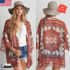 New Fashion Women Chiffon Loose Shawl Kimono Cardigan Top Cover up Shirt Blouse