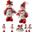 Standing Snowman Sitting Extendable Legs Christmas Decorations Red White