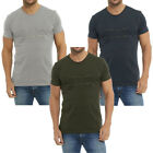 Mens Designer Plain Zip Chest Long Line Length T-Shirt Tee Top Size