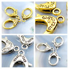 24x16mm Lobster Clasp 3 pcs for DIY Jewelry, Silver/ Gold, pick your color