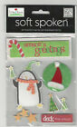 U CHOOSE  Assorted Soft Spoken CHRISTMAS & WINTER 3D Stickers poinsettias cheers