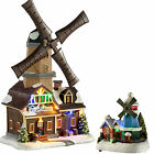Pre-Lit LED Animated Musical Rotating Windmill Christmas Decoration Multi Colour