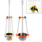Birds Parrots Hanging Feed Bowl Swing Cage Toys For Parakeet Cockatiel Cockatoo