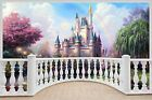 Huge 3D Balcony Fantasy Castle Princess Prince Wall Stickers 941