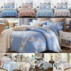 100% Cotton Duvet Cover Set--3 Piece Duvet Covers and Pillowcases Bedding Sets