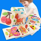 Wooden Puzzle Jigsaw Cartoon Baby Kids Educational Learning Tool Set Toy DIY