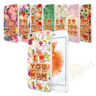 I Love Mum Flower Pattern Hard Case Cover For Samsung And Apple iPhone Models