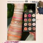 12 Colors Eyeshadow Makeup Palette Shimmer Matte Eye Shadow Cosmetic Brush Set