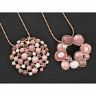 Equilibrium Rose Gold Plated Circles Design Pendant Necklace Sold Individually