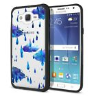 For Samsung Galaxy J7 J700 Black Hybrid Bumper Clear Transparent Case Cover