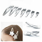 Silver Color Hair Clips Baby Girls Women Hair Bow Barrettes Craft LOT