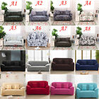 Pure Color / Flower 1 2 3 4 Seater Sofa Couch Slip cover Stretch Sofa Protector