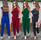 Women Sleeveless Playsuit Evening Party Chiffon Lady Long Jumpsuit Romper Pants