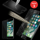 3x Premium Real Tempered Glass Screen Protector For Apple Iphone 5 Se 6 6s 7 7+