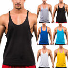 1PC MEN FITTED COTTON SINGLET GYM STRINGER VEST SPORTS TANK TOP SLEEVELESS SHIRT
