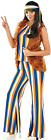 Ladies 60s Rock Star Hippie Fancy Dress Costume Outfit UK 8-22 Plus Size