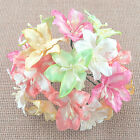 5 x LILY / LILLIES 45mm Bunch of MIXED PASTEL TONES Mulberry Paper Flowers