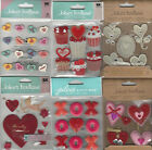 U CHOOSE  Assorted Jolee's VALENTINE 3D Stickers love conversation hearts cupid