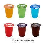 BIG TIME FLAVOURED CUP SOFT DRINKS KIDS 24 X 200ml WITH STRAWS SUMMER SPECIAL