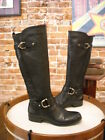 Naturalizer Jersey Black Pebbled Leather Riding Boots New