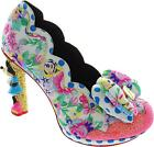 Irregular Choice Sherbet Ice Cream Women's Floral Character Heel Court Shoes New