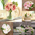 New Bunch Wedding Artificial Silk Hydrangea Posy Flower Bouquet Home  Party