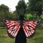 Shawl Fairy Ladies Nymph Pixie Soft Fabric Butterfly Wings Costume Accessory ☸☸