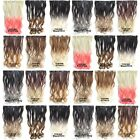 Clip In Wavy Curly Synthetic Dip Dye Ombre Five Clips Hairpiece Hair Extensions