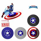 CAPTAIN AMERICA UK TOY SHIELD FIDGET SPINNER FINGER EDC ADHD AUTISM METAL FOCUS