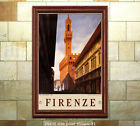 Firenze - Vintage Italian Travel Poster [6 sizes, matte+glossy avail]