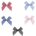 "NEW 42mm 1.6"" Bows 12mm Gingham Ribbon Eco Quality Craft Wedding Gift"