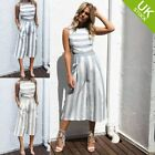 Women Casual Jumpsuit Playsuit Wide Leg Pant Clubwear Sleeveless Bodycon Romper