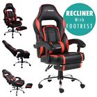 GTFORCE PACE RECLINING LEATHER SPORTS RACING OFFICE DESK CHAIR GAMING FOOTSTOOL <br/> Genuine GTFORCE Chair, Recliner, Footstool