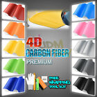 *Premium 4D Gloss Carbon Fiber Vinyl Wrap Sticker Decal Sheet Bubble Free Film