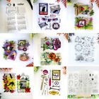Hot Scrapbook DIY Photo Album Transparent Silicone Rubber Clear Stamp Diary Card