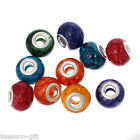 Wholesale Lots Glass European Charm Beads Mixed Color For Charm Bracelets B39742