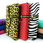 For Samsung Galaxy S5 Zipper Wallet Flip PU Leather Card ID Slot Case Cover