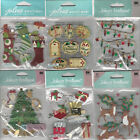 U CHOOSE  Assorted Jolee's CHRISTMAS 3D Stickers gingerbread house ornaments