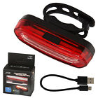 Bike Bicycle Cycling USB Rechargeable Front Rear Light LED Tail Lamp New