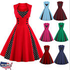 Vintage Women's 50s 60s Retro Swan Rockabilly Pinup ousewife Slim Party Dress